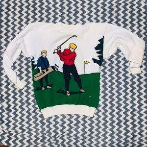 Vintage RARE Jantzen Ugly Golf Sweater